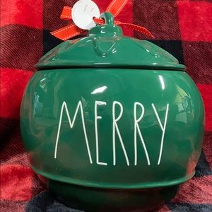 Rae Dunn Merry Ornament Canister